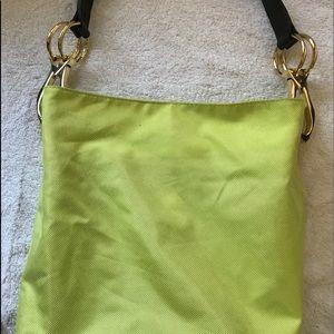 JPK 75 Paris Lime Green Canvas Bucket Bag
